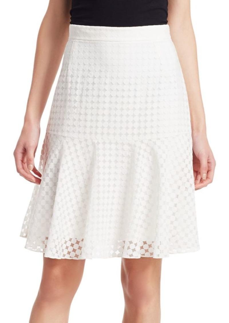 3d053f2d5 Akris Punto Lace Flare Hem A-line Skirt   Skirts