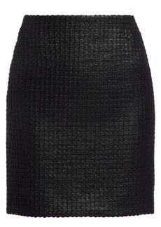 Akris Punto Lacquered Tweed Mini Skirt