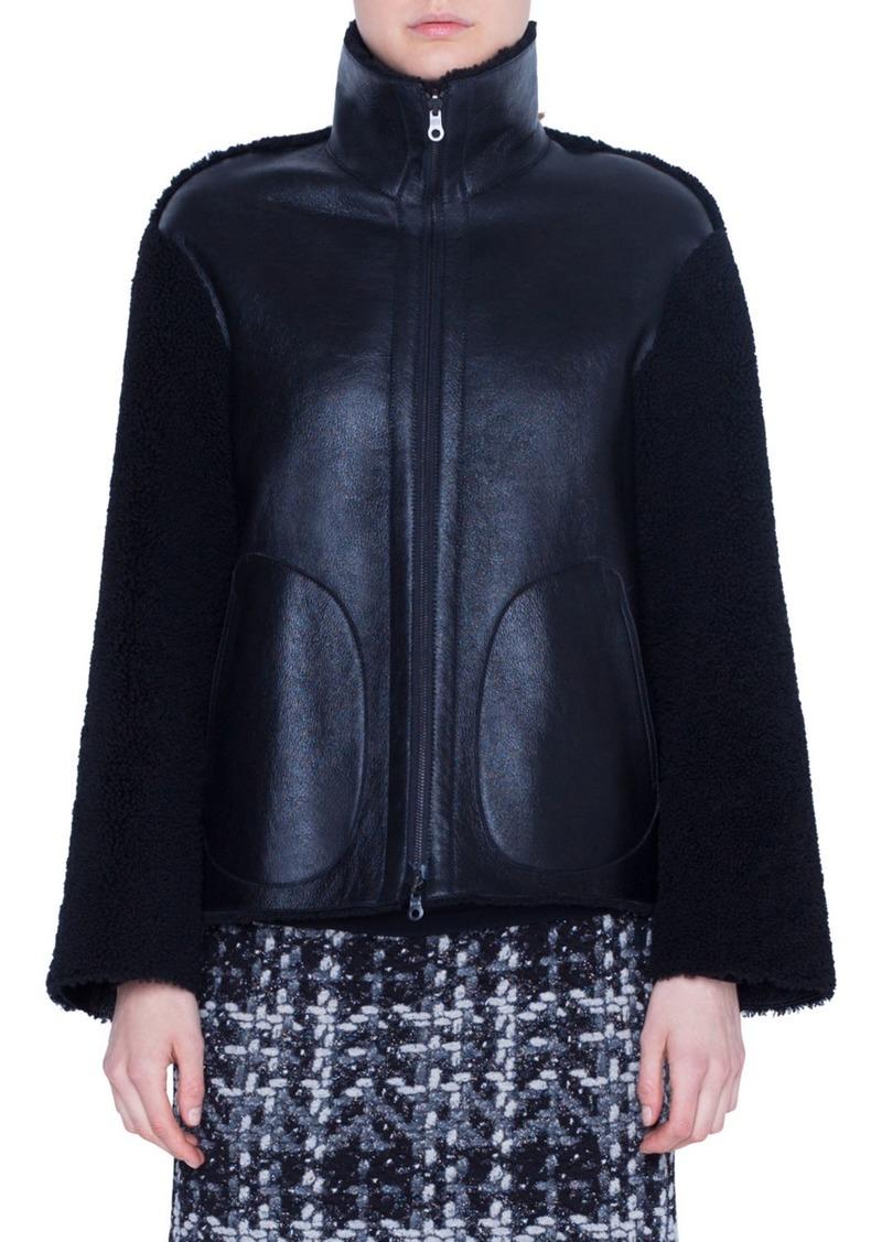 Akris Punto Lamb Fur Stand-Collar Jacket
