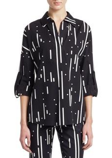 Akris Punto Lamiera Print Kimono Shirt