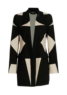 Akris Laslo Leather-Trim Wool Jacket