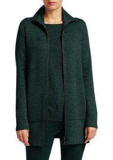 Akris Punto Long Knit-Melange Jacket