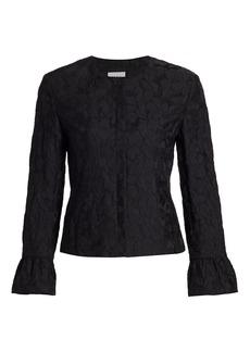 Akris Punto Magnolia Cloqué Bell-Sleeve Jacket