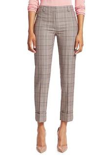 Akris Punto Maxima Plaid Wool Cropped Pants