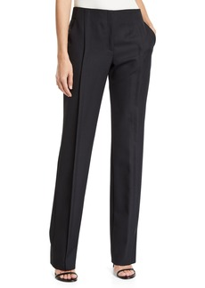 Akris Punto Merit Straight-Leg Wool Pants