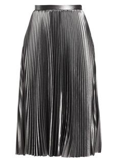 Akris Punto Metallic Crepe Plissé Skirt