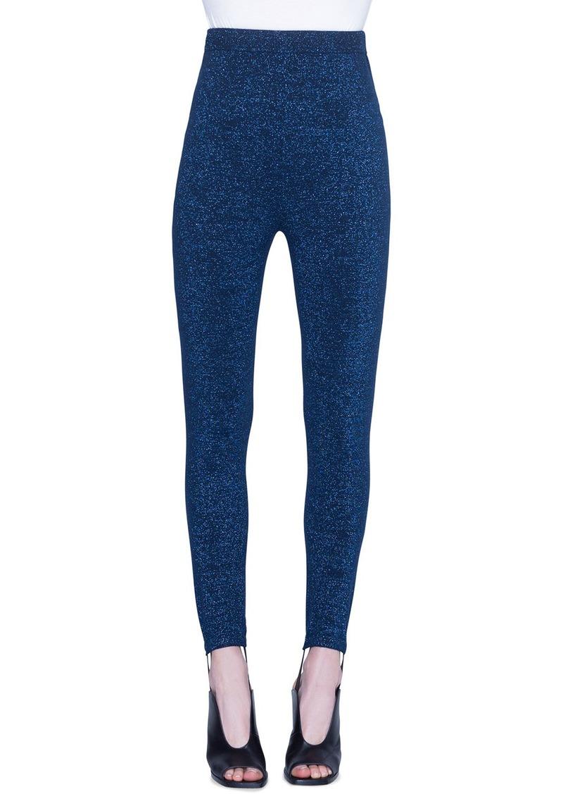 Akris Punto Metallic Wool Stirrup Pants
