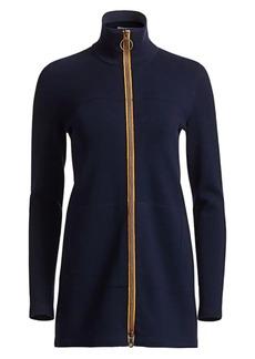 Akris Punto Milano Wool Knit Long Cardigan
