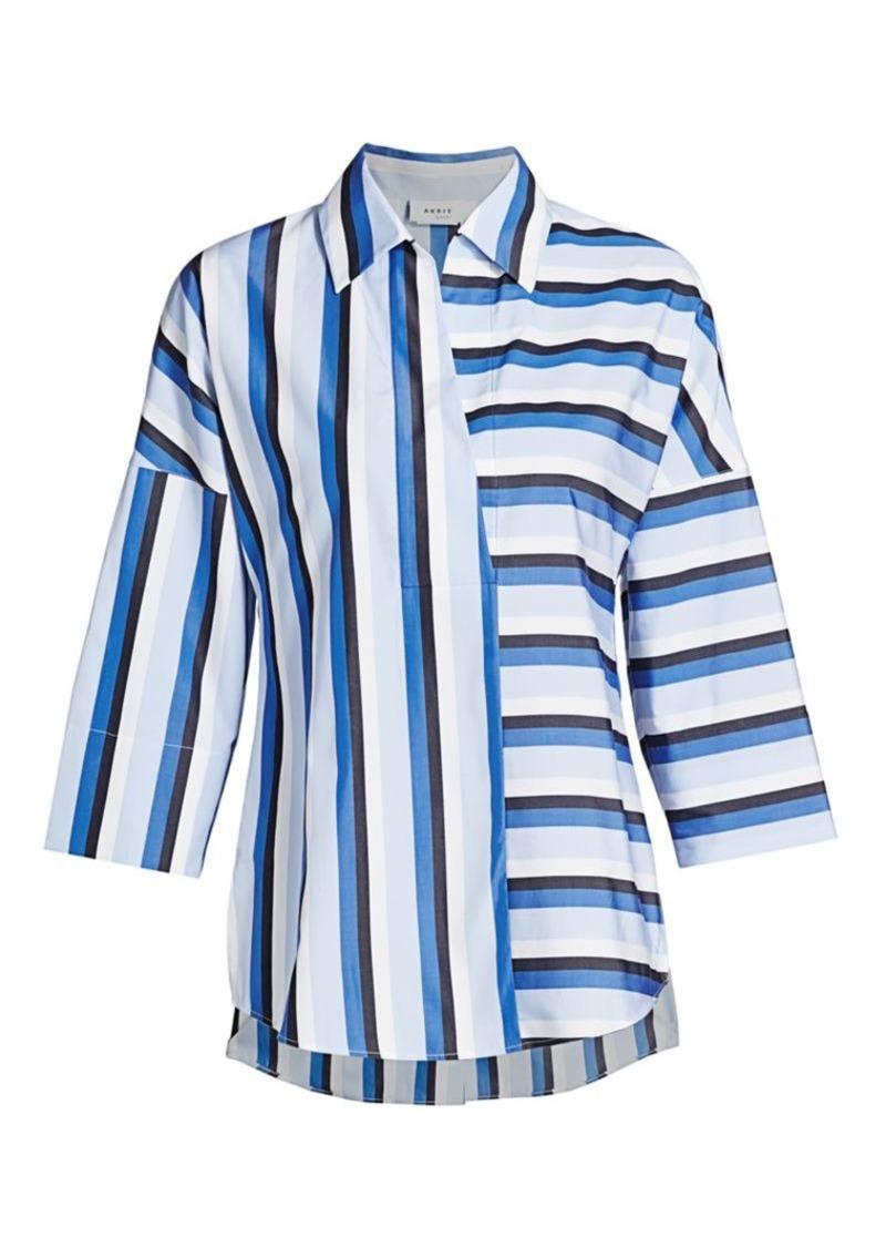 Akris Punto Mixed Stripe Kimono Blouse