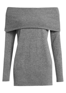 Akris Punto Off-The-Shoulder Wool & Cashmere Knit Sweater