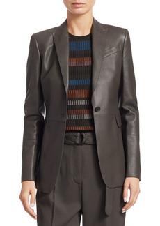 Akris Punto Olivia Perforated Leather Blazer
