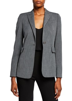 Akris Punto One-Button Peak Lapel Blazer