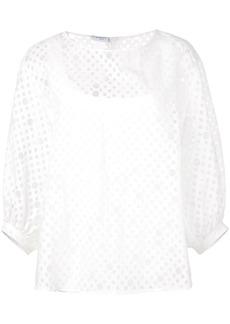 Akris Punto organza blouse