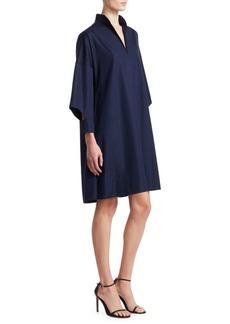 Akris Punto Oversized Cotton Kimono Dress