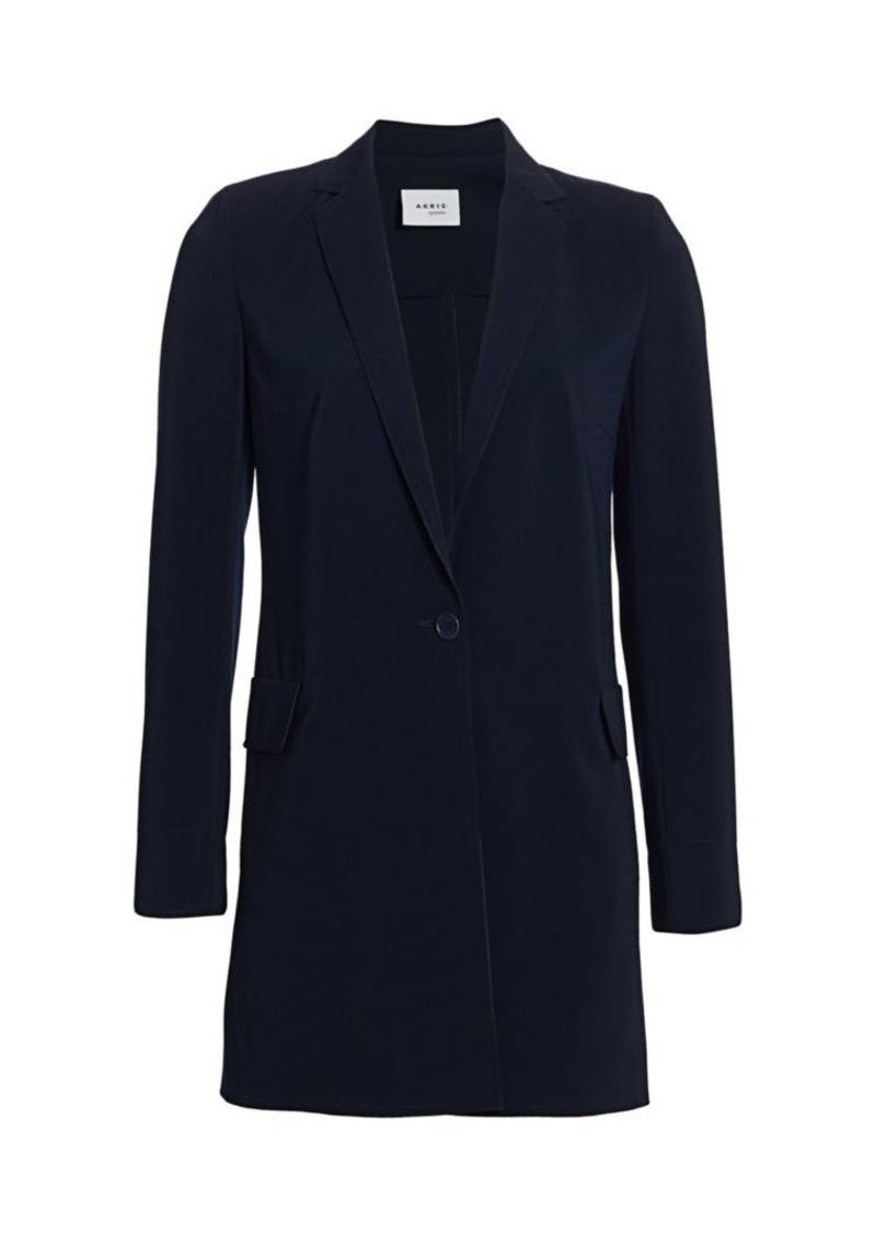 Akris Punto Oversized Long-Line Blazer Coat