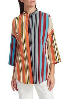 Akris Punto Parasol Striped Kimono Blouse