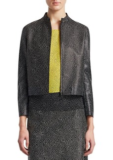 Akris Punto Pastina-Print Leather Jacket