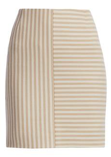Akris Punto Patchwork Stripe Jersey Mini Skirt