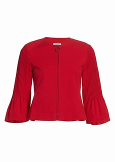 Akris Punto Pintuck Bell-Sleeve Cropped Jacket