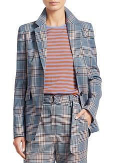Akris Punto Plaid Wool-Blend Jacket