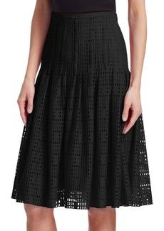 Akris Punto Pleated Lace Skirt