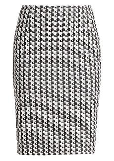 Akris Punto Printed Jersey Pencil Skirt