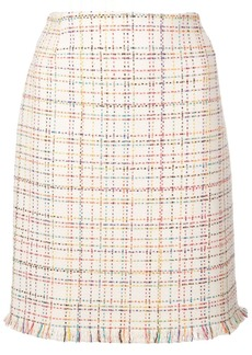 Akris Punto rainbow tweed skirt