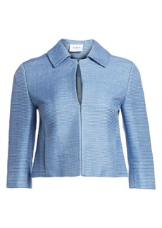 Akris Punto Raw Silk Cropped Jacket