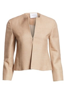 Akris Punto Raw Silk Jacket