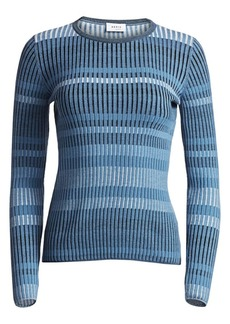 Akris Punto Ribbed Wool Pullover Sweater