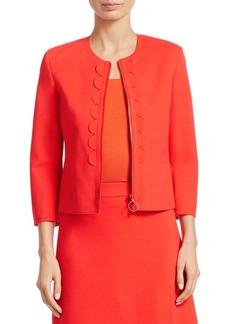 Akris Punto Rosso Scalloped Zip-Front Jacket