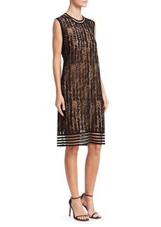 Akris Punto Scribble Jacquard Knit Sleeveless Dress