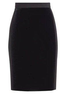 Akris Punto Scuba Velvet Pencil Skirt