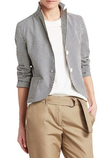 Akris Punto Seersucker Stripe Jacket