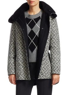 Akris Punto Shetland Tweed Hooded Parka