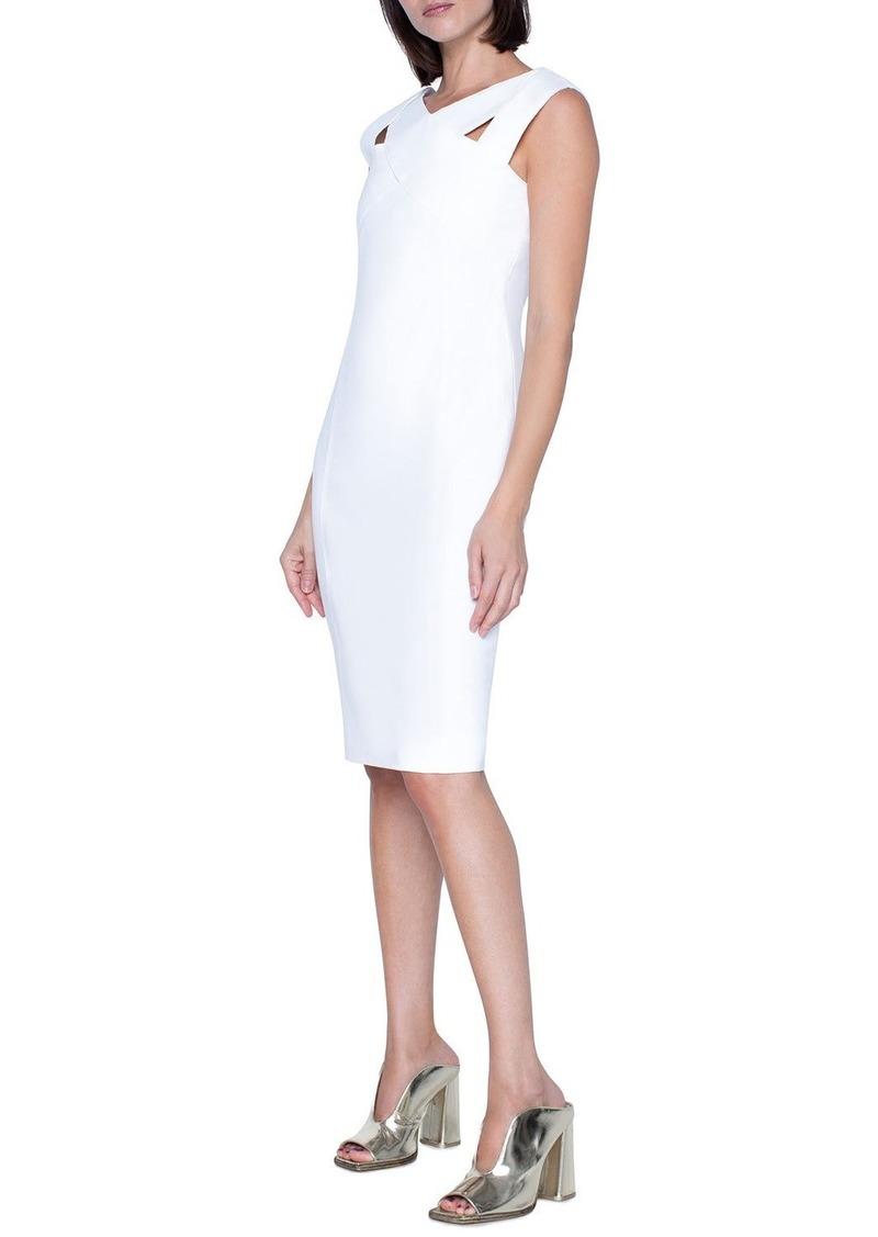 Akris Punto Signature Jersey Crisscross-Neck Dress