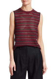 Akris Punto Silk Knit Sleeveless Top
