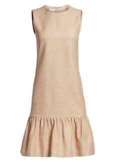 Akris Punto Sleeveless Raw Silk Drop Waist Dress