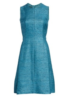 Akris Punto Sleeveless Zip-Front Silk Ottoman Dress