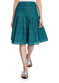 Akris Punto Striped Bell Skirt