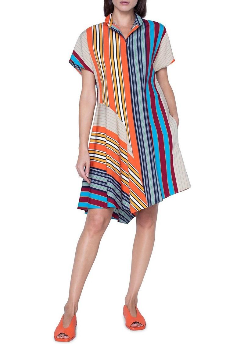 Akris Punto Striped Jersey Shirtdress