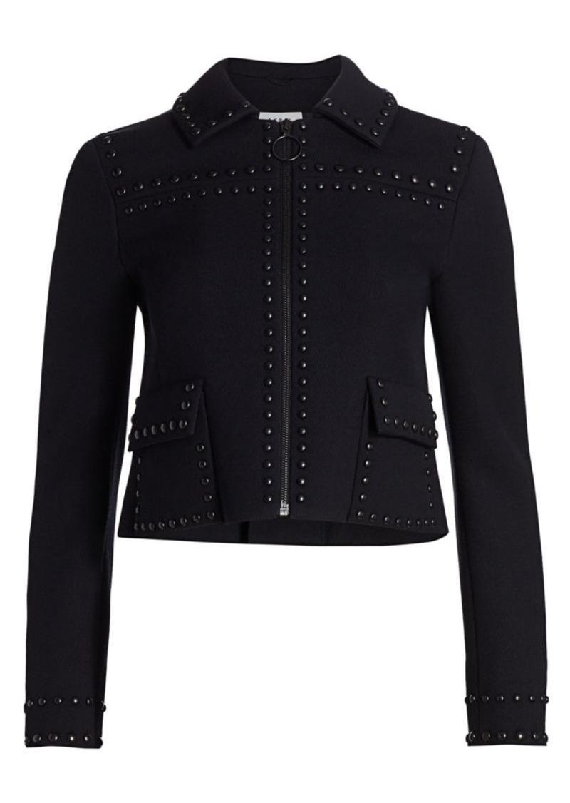 Akris Punto Studded Crop Wool Jacket