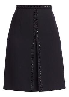 Akris Punto Studded Wool A-Line Skirt
