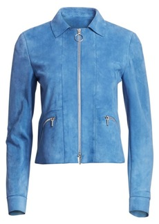 Akris Punto Suede Zip-Up Jacket