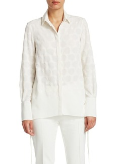 Akris Punto Technical Embroidered Blouse