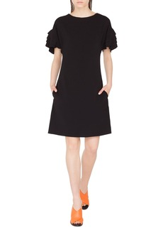 Akris Punto Tiered Bell-Sleeve Shift Dress