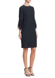 Akris Punto Tiered Tulle A-Line Dress