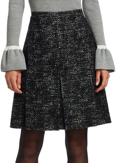 Akris Punto Tweed Knee-Length Skirt