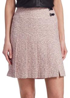 Akris Punto Tweed Pleated Skirt
