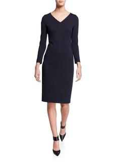 Akris Punto V-Neck Jersey Dress